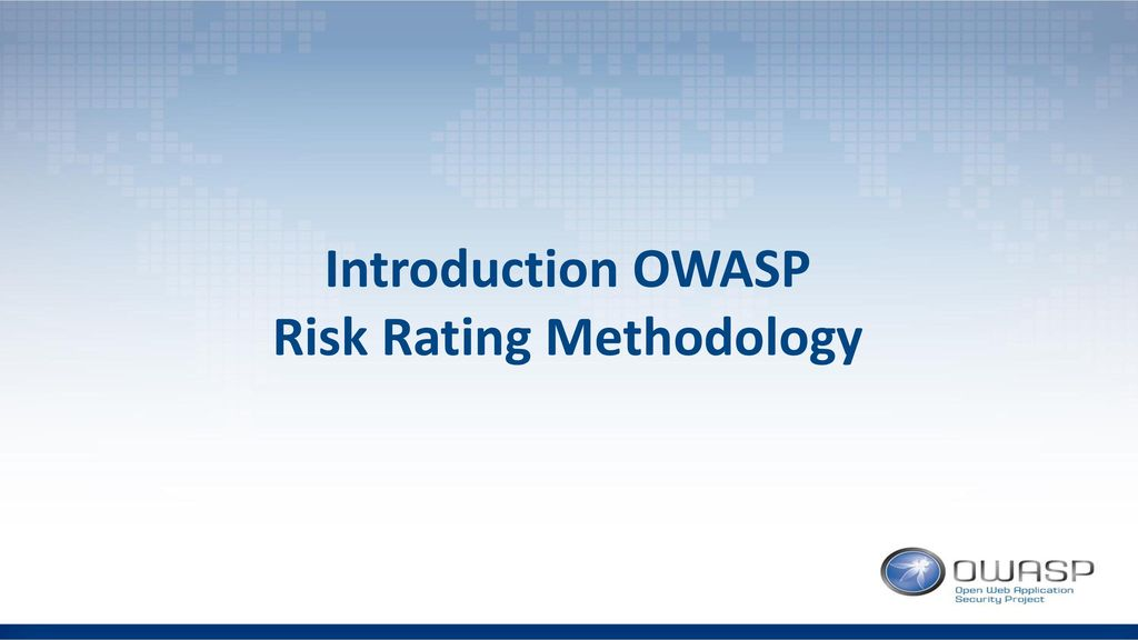 Risk Rating Methodology
