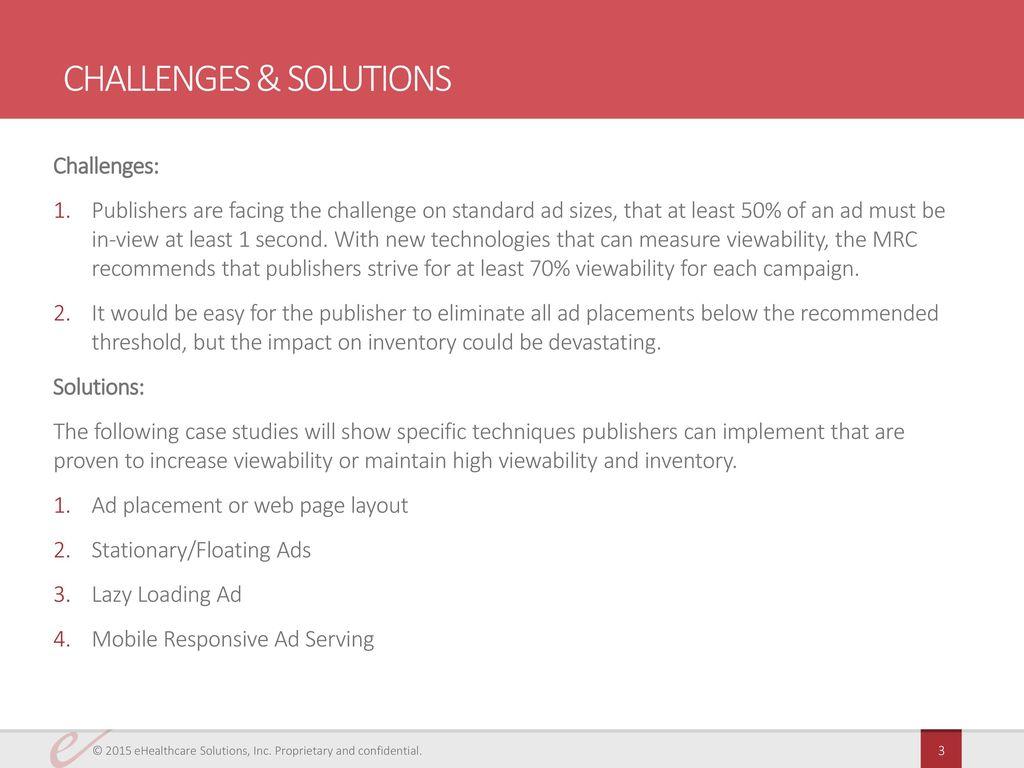 Viewability case studies ppt download 3 challenges solutions altavistaventures Choice Image