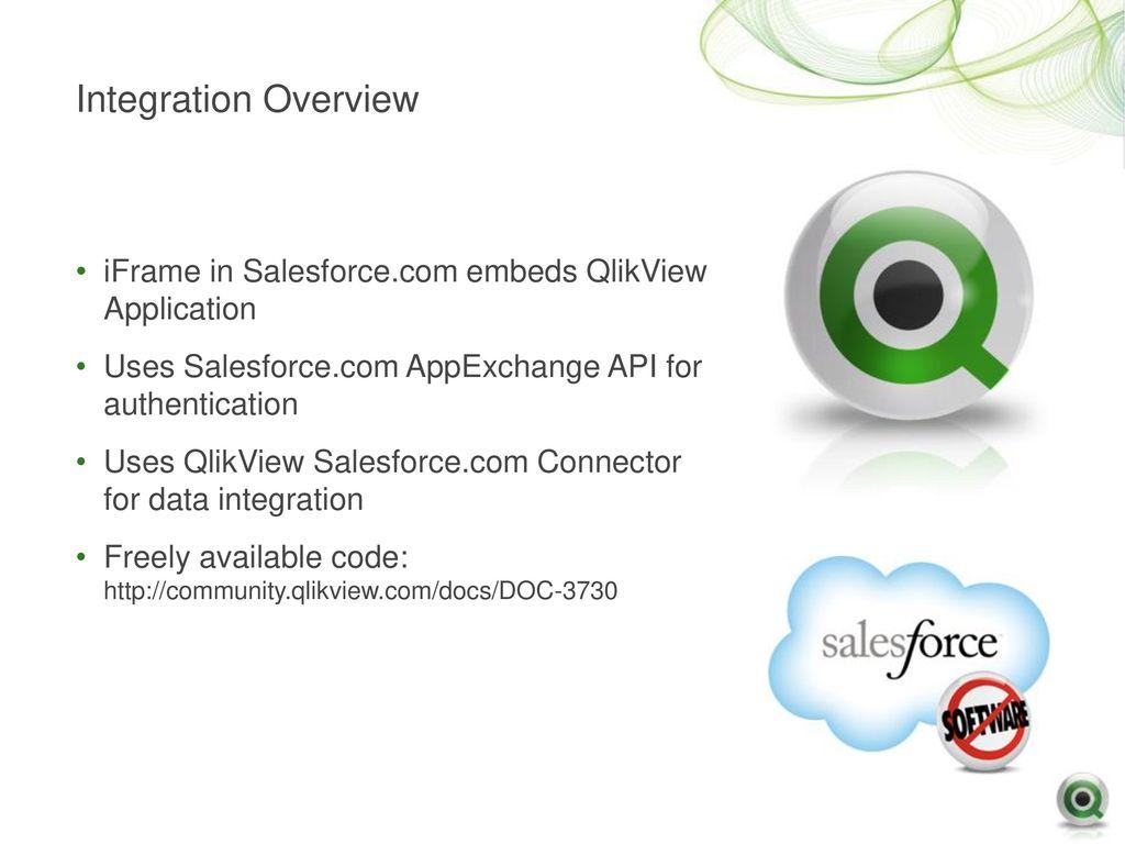 QlikView and Salesforce com Integration - ppt download