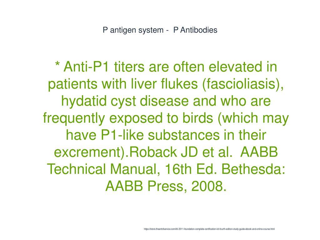 P antigen system - P Antibodies