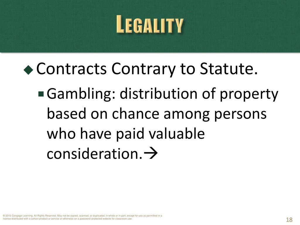 Chapter 14: Contracts – Capacity and Legality - ppt download