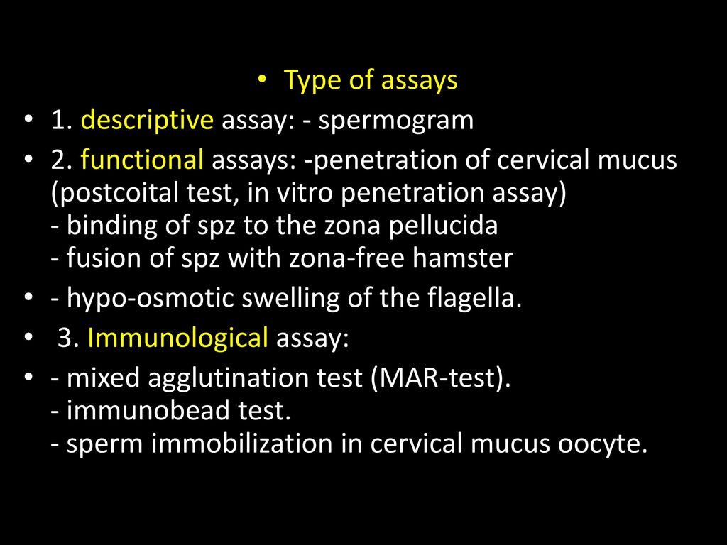 How is the transcript of the spermogram