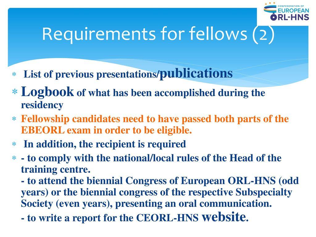 European fellowship programmes - ppt download