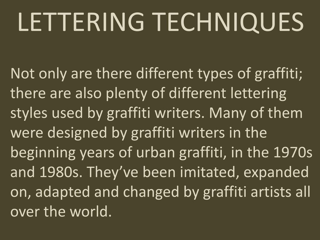 Graffiti A Work Of Art Or Vandalism  Ppt Download