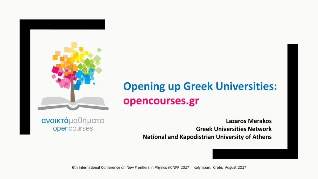 Opening up Greek Universities  opencourses.gr - ppt download 792eedff23c
