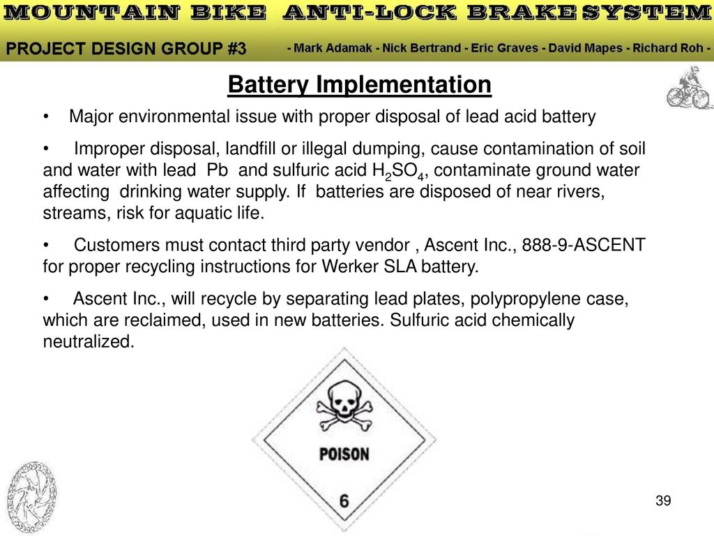 Capstone Design Project Mountain Bike Anti Lock Brake System Ppt Very Simple Lead Acid Battery Charger With Pb137 Regulator 39 Implementation