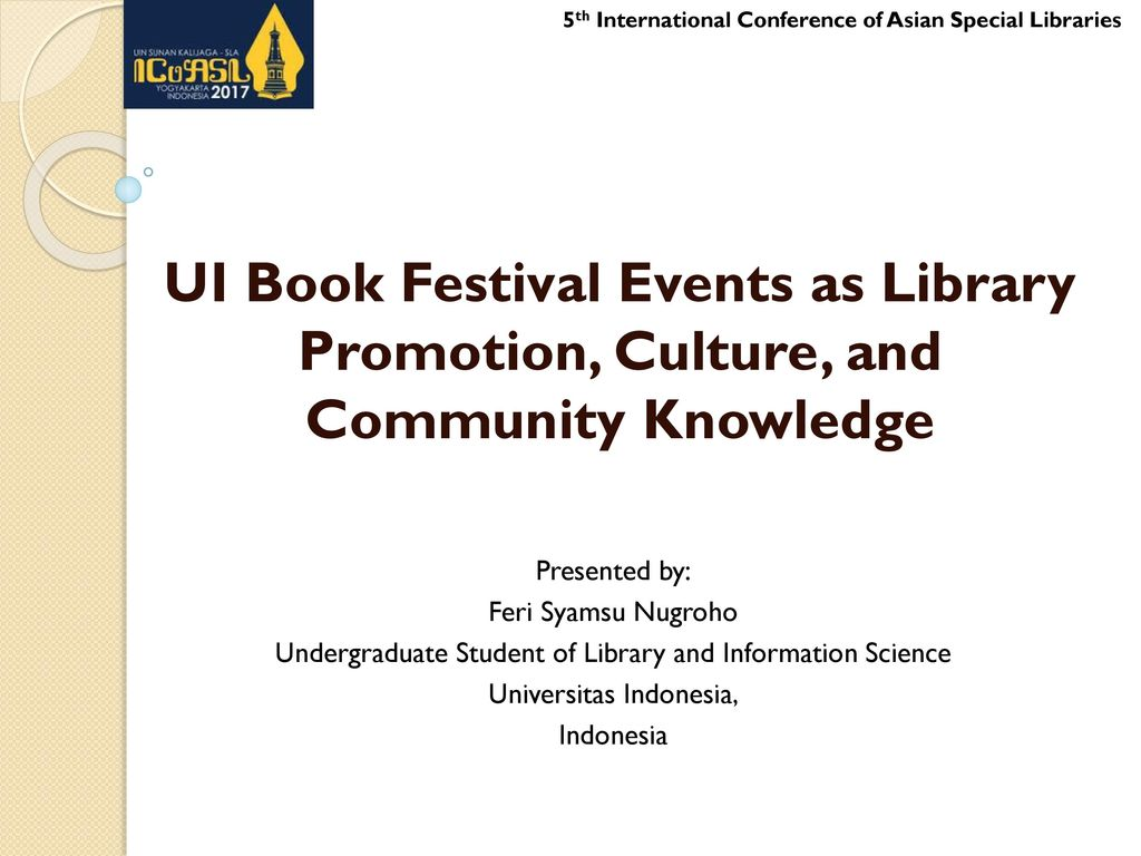 5th International Conference of Asian Special Libraries - ppt download