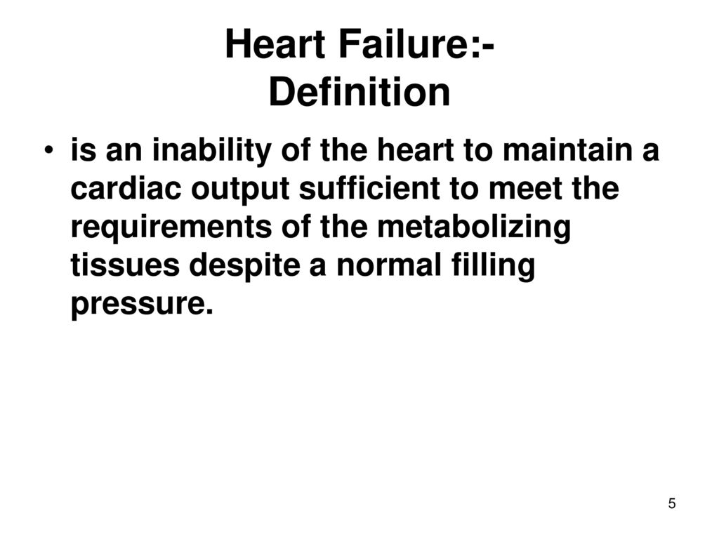 management of chronic heart failure (congestive cardiac failure