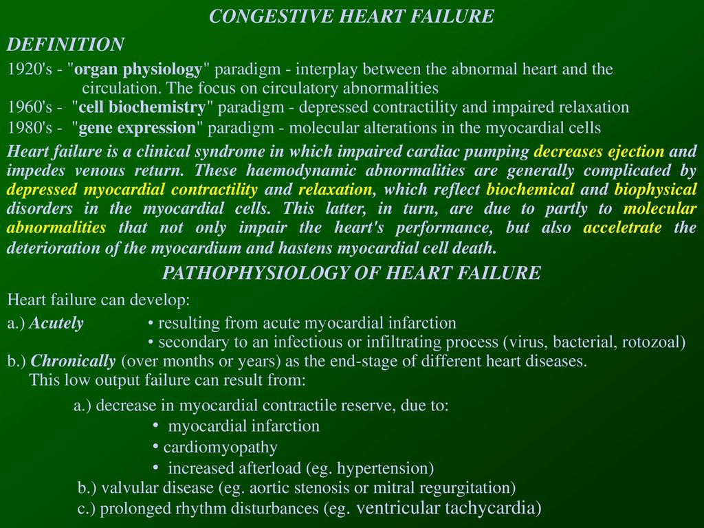 congestive heart failure - ppt download