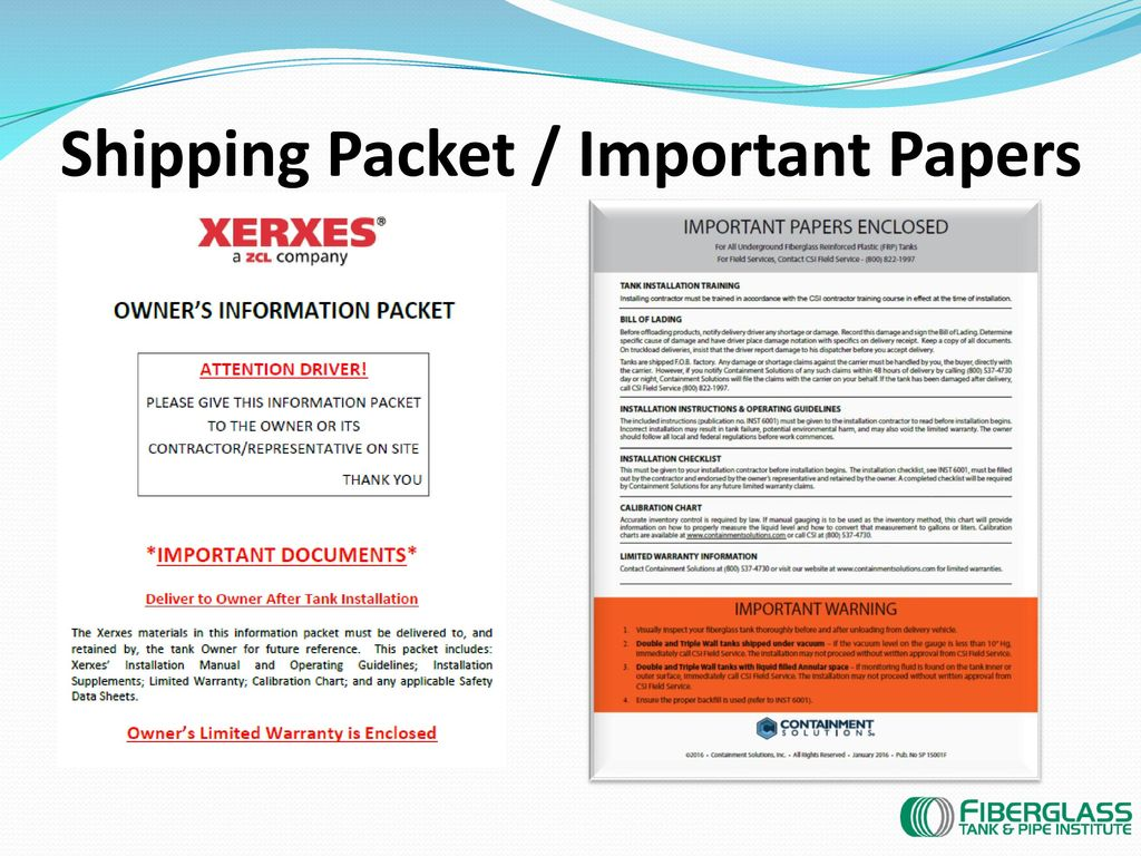 Fiberglass Tank & Pipe Institute Presentation - ppt download