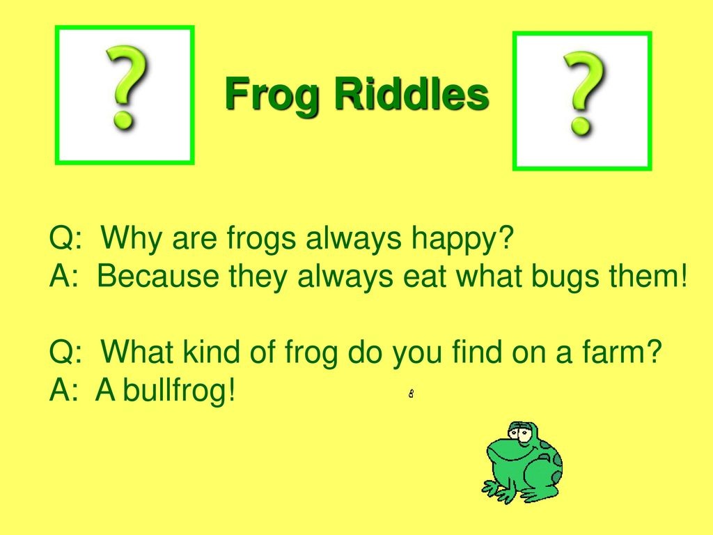 Riddles about a frog - we develop imagination of the child 84