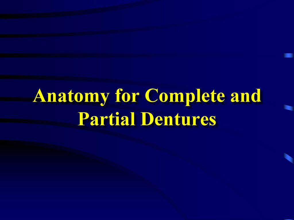 Anatomy for Complete and Partial Dentures - ppt download