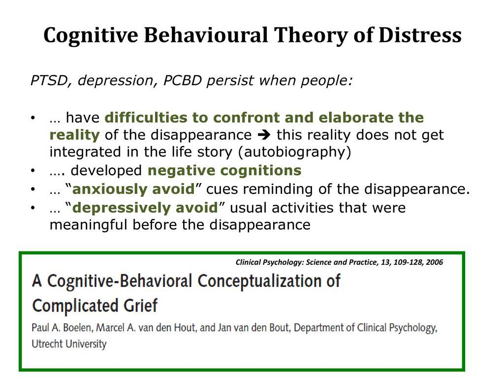 Cognitive Behavioral Correlates Of Psychological Symptoms