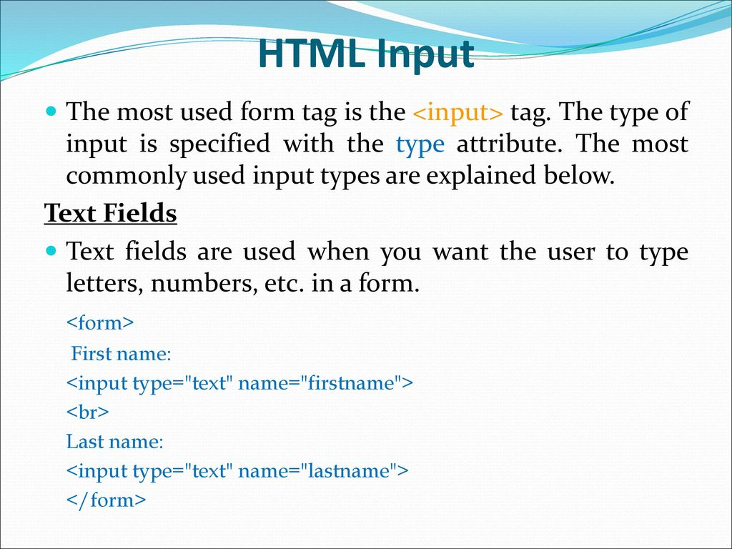 Html Basics Part  Ppt Download