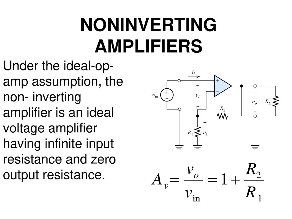 Operational Amplifiers Ppt Download Inverting Amplifier Vs Noninverting 15