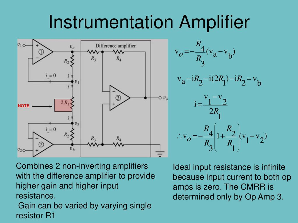 Basic Block Diagram Of Op Amp Ppt Download Instrumentation Amplifier
