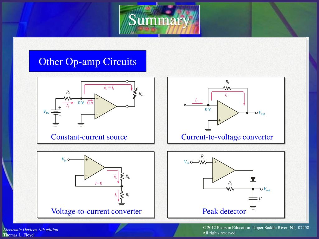 Electronic Devices Ninth Edition Floyd Chapter Ppt Download Constantcurrentsourceconverter Basiccircuit Circuit Diagram Summary Other Op Amp Circuits Constant Current Source