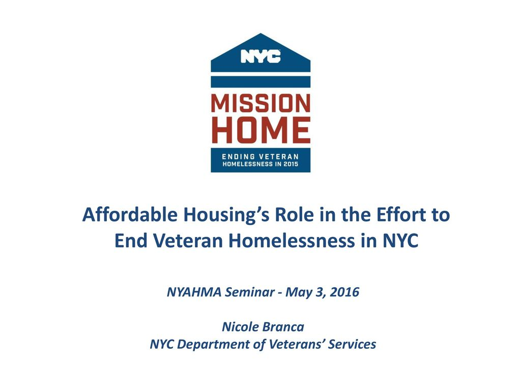NYC Department of Veterans' Services - ppt download