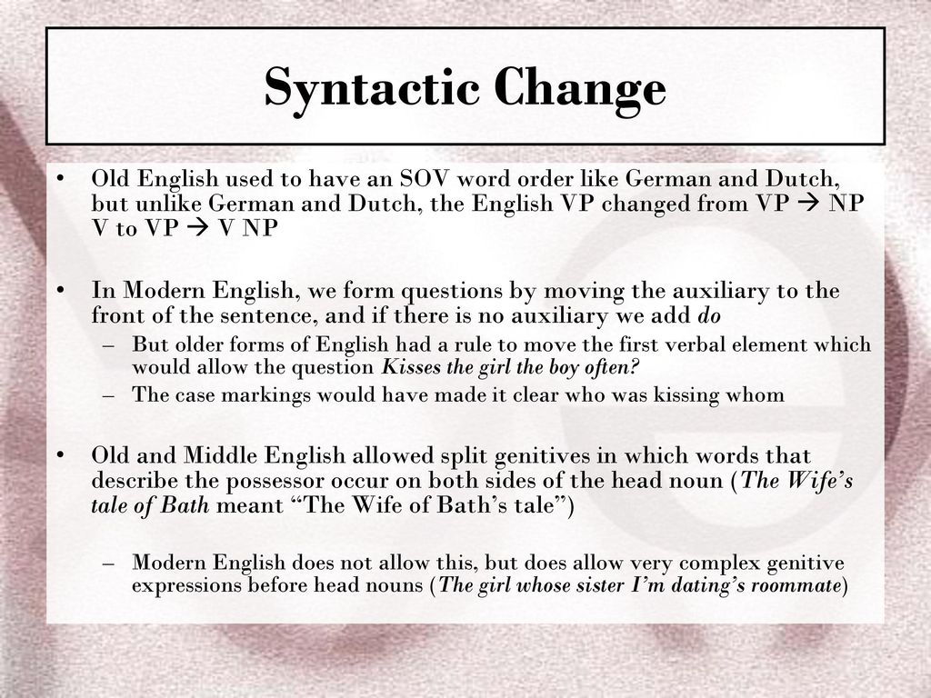 Ch 11 Language Change The Syllables Of Time Ppt Download
