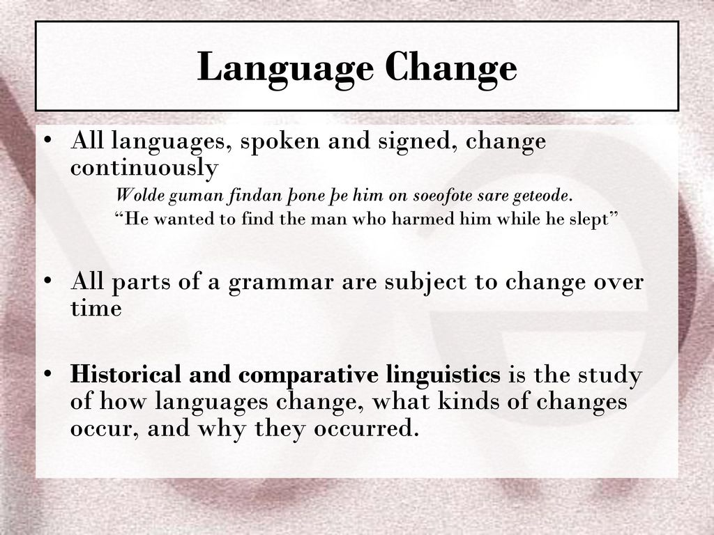 Ch 11 Language Change The Syllables