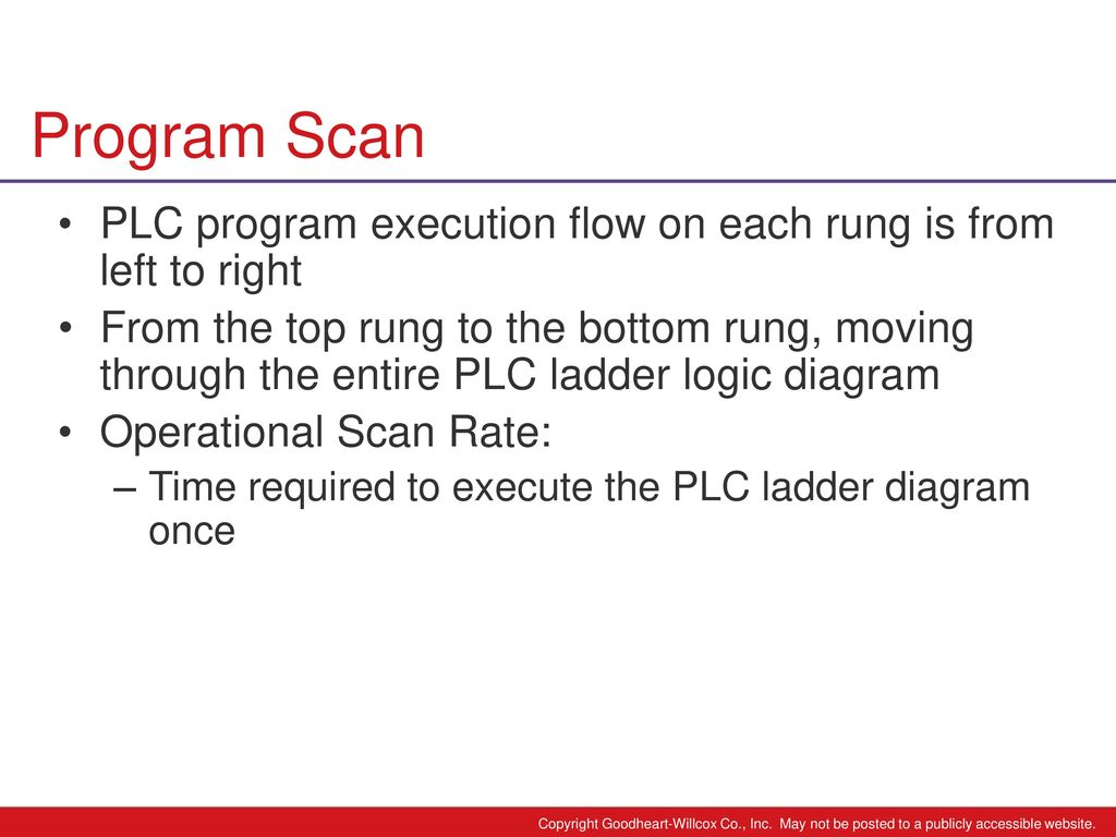 6 Chapter Plc Programming Ppt Download Logic Diagram Program Scan Execution Flow On Each Rung Is From Left To Right
