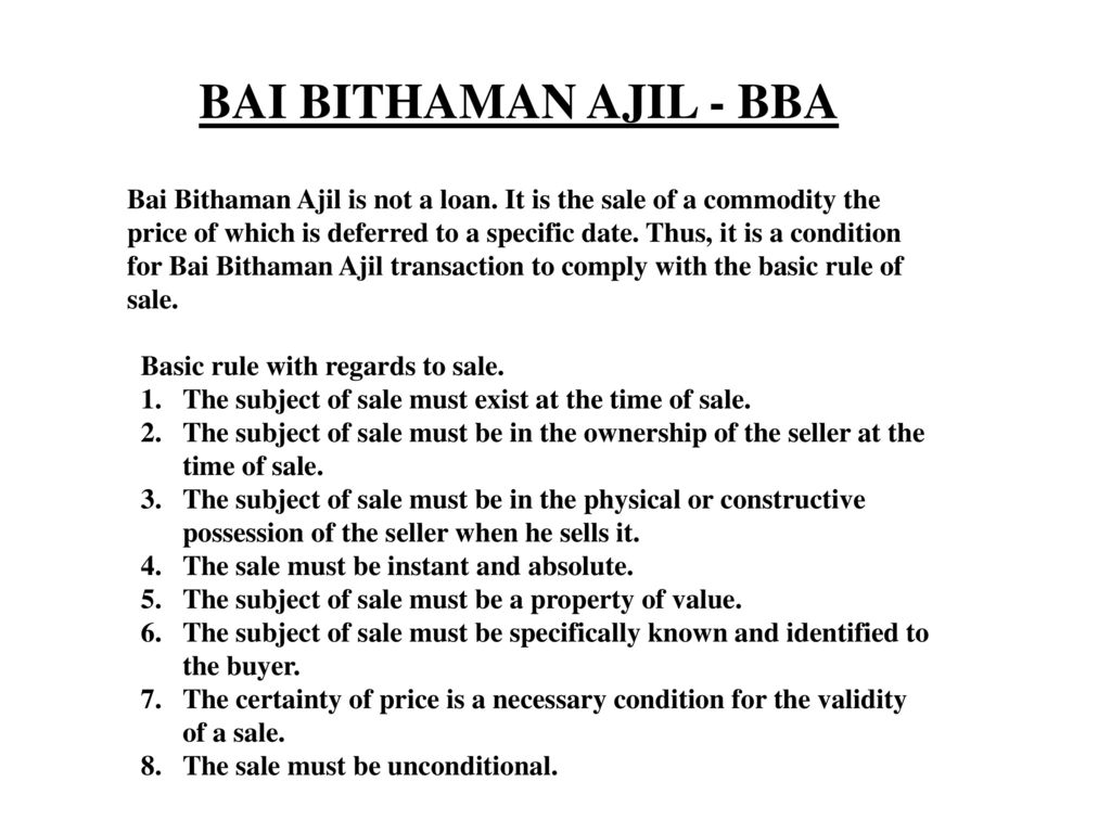 Compare And Contrast Aitab And Al Bai Bithaman Ajil Ppt Download