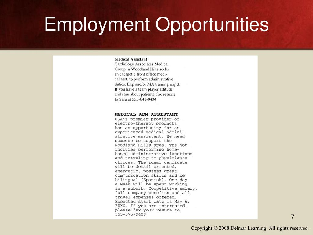 Physician Assistant Resume Sample 7 Employment Opportunities