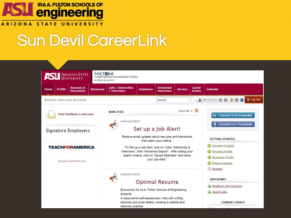 sun devil careerlink