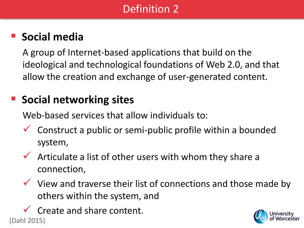 definitions social media various types of social media - ppt download