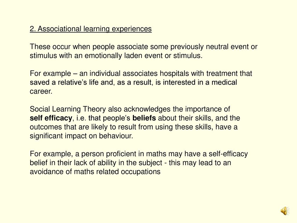 social learning theory treatment