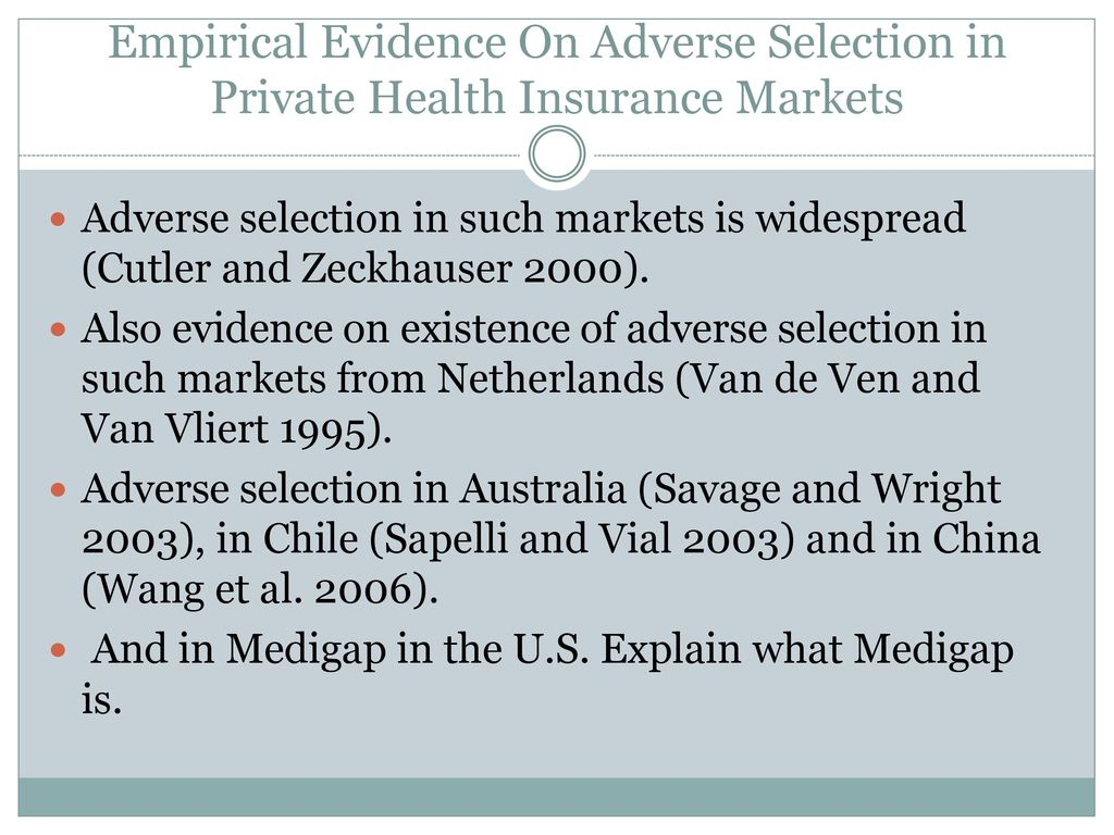 adverse selection health insurance