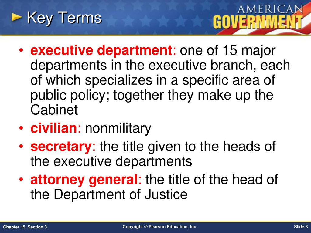 Chapter 15 Government At Work The Bureaucracy Section 3 Ppt Download Next Into Cabinet Key