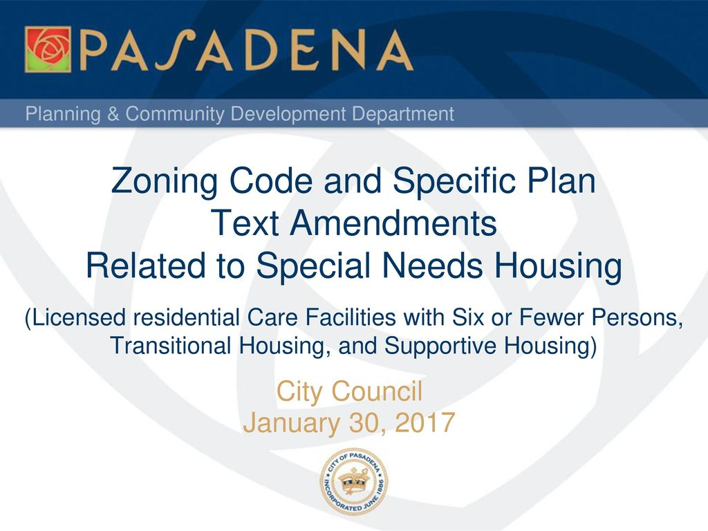 Zoning Code and Specific Plan Text Amendments Related to Special