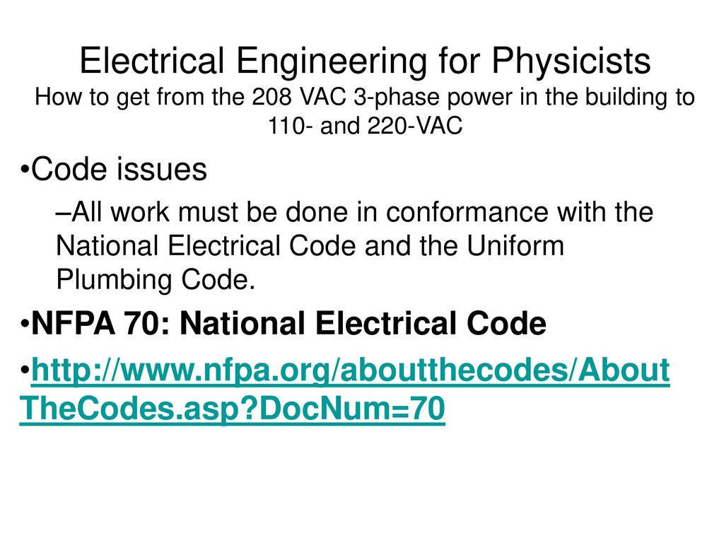 220 110 3ph Panel Wiring Diagram Electrical Engineering For Physicists How To Get From The 208 Vac 3 1