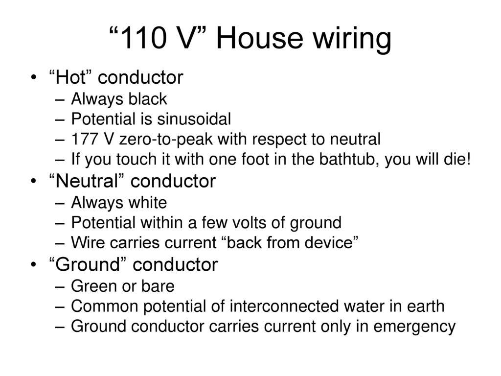 """12 """"110 V"""" House wiring """" ..."""