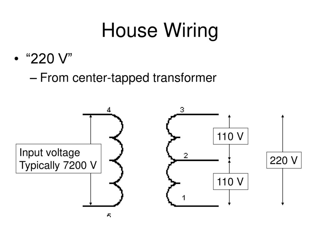 Electrical Engineering For Physicists How To Get From The 208 Vac 3 Wiring 220 House V Center Tapped Transformer 110