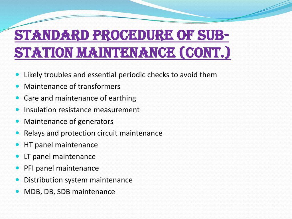 presentation on sub station design operation maintenance safety rh slideplayer com