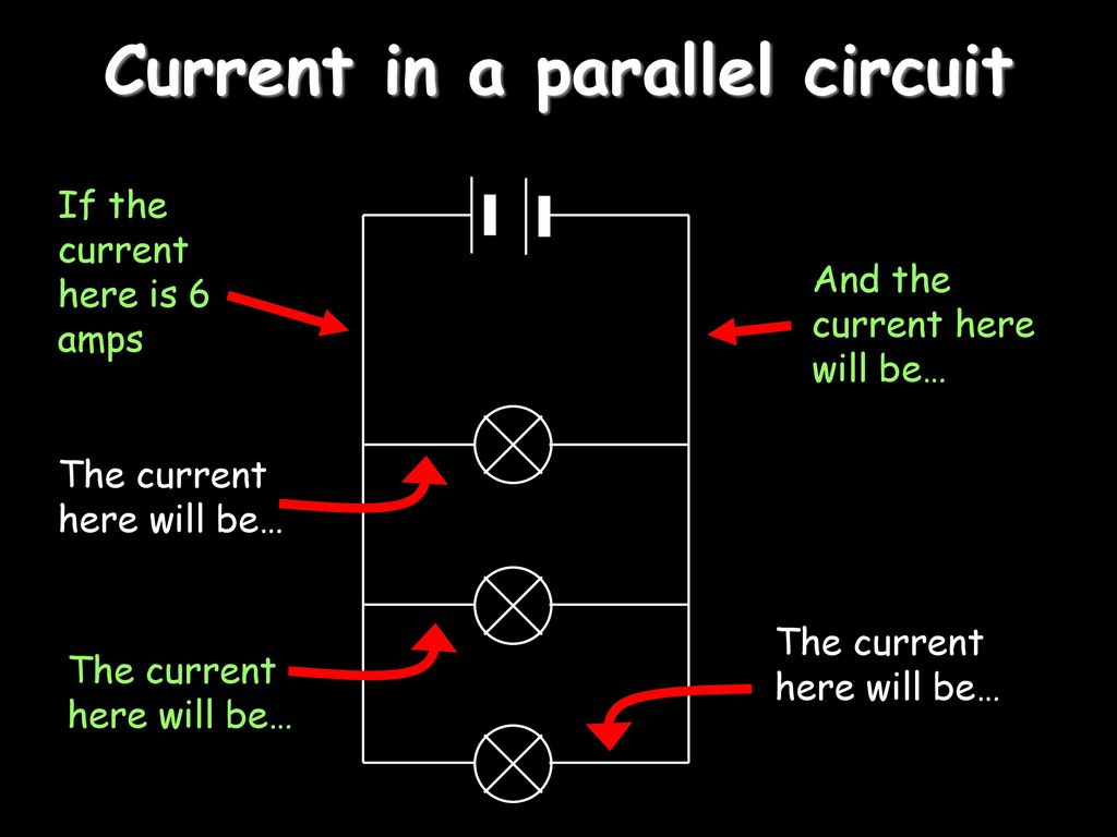 Electricity Ppt Download Current In A Parallel Circuit