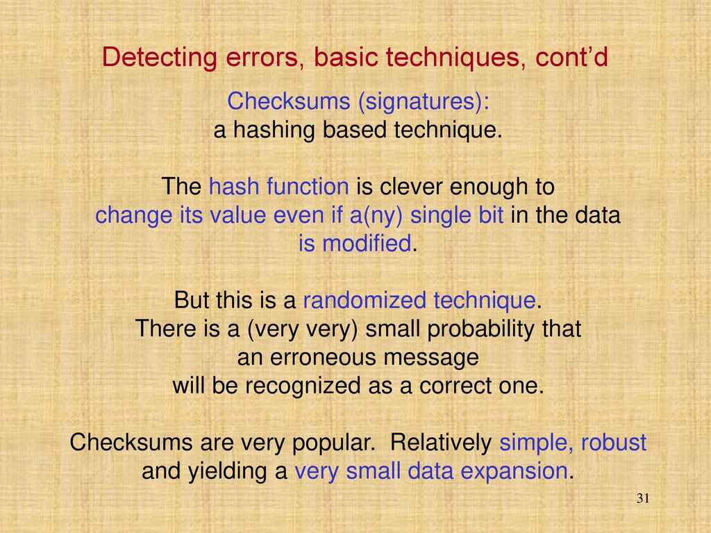 Algorithms and Data Structures lecture 8 Loss data