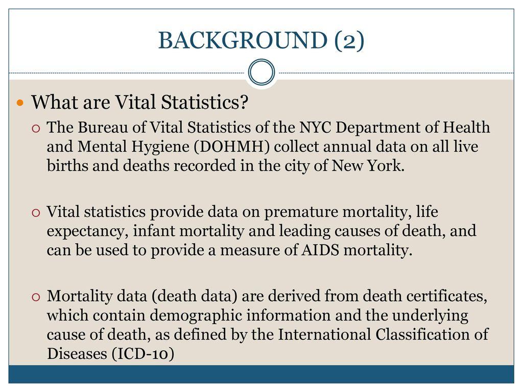 Vital Statistics Institute For Implementation Science In Population