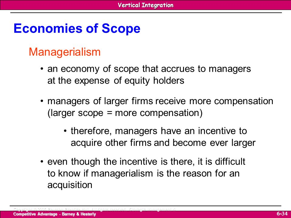 Economies of Scope Managerialism