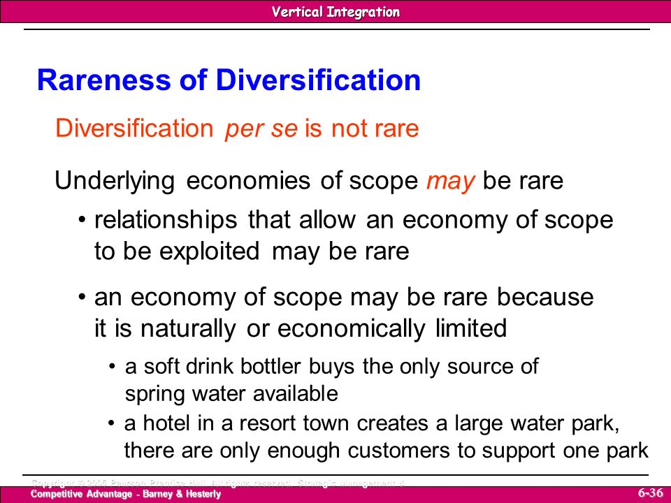 Rareness of Diversification