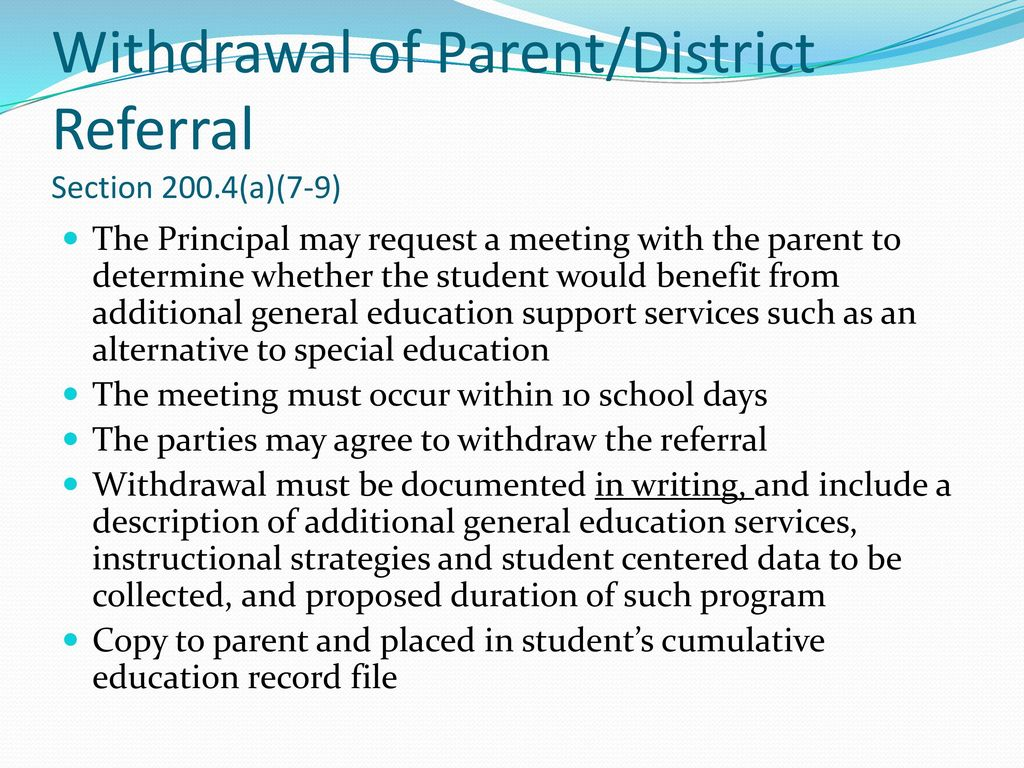 Special Education Law 101 Part Vii >> Referral To The Committee On Special Education Ppt Download