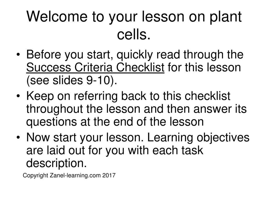 The Plant Cell Key Stage Ppt Download 3d Animal Diagram Success Grade 8 Welcome To Your Lesson On Cells