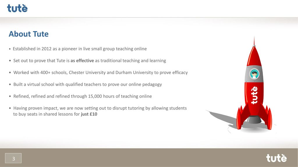 2d9c28ef6c3a About Tute • Established in 2012 as a pioneer in live small group teaching  online.