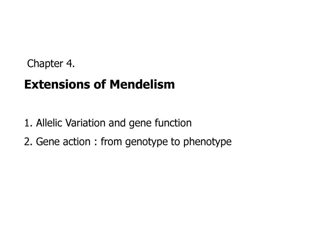 what is mendelism