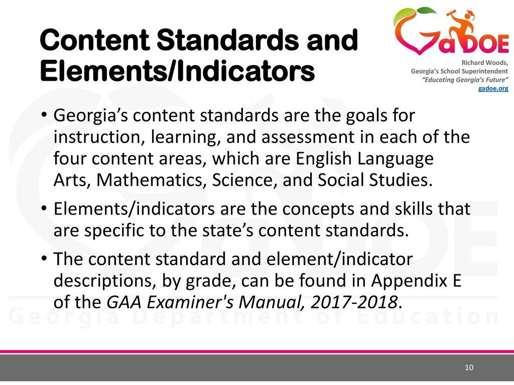 Georgia Alternate Assessment - ppt download