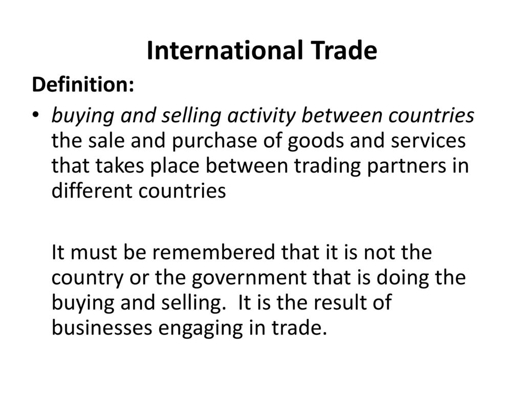 the global economy, international trade - ppt download