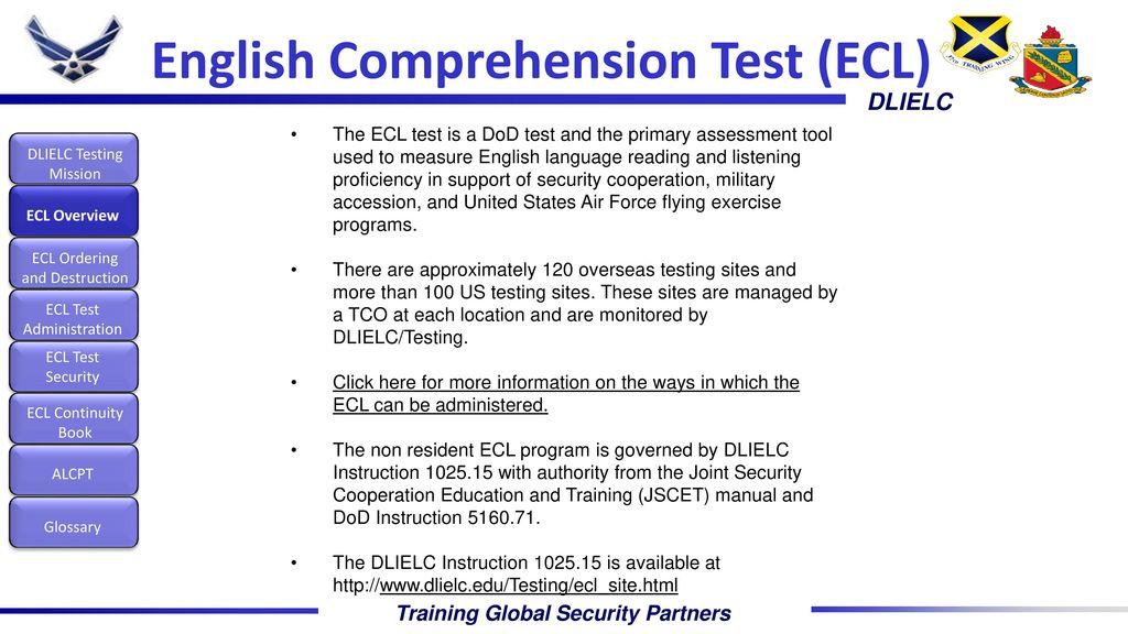 DLIELC'S Testing Mission - ppt download