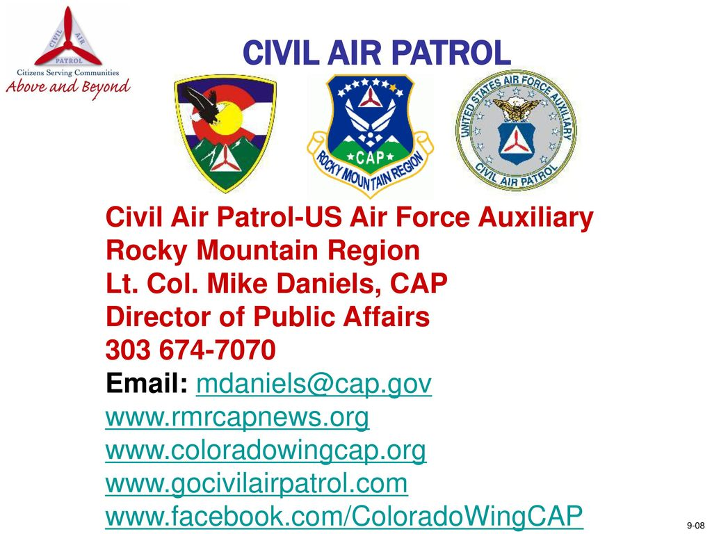 46ae931d67e WHO IS THE CIVIL AIR PATROL  - ppt download